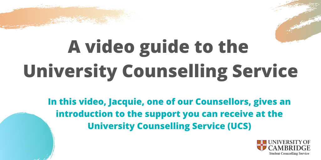 A video guide to the  University Counselling Service